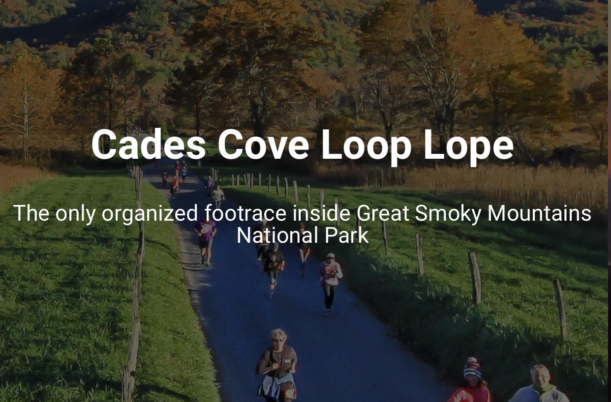 Cades Cove Loop Lope